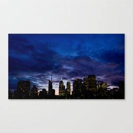 Skyline City Sunset Canvas Print