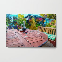 The Garden Table Metal Print