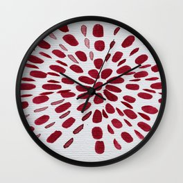 Red Dots Wall Clock