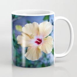 White Hibiscus Coffee Mug