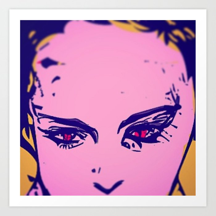 Initially message milk  Purple Puma POP ART. Art Print by muska | Society6