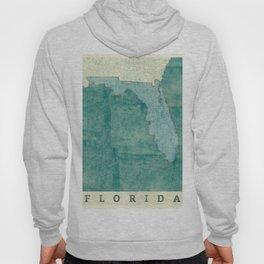 Florida State Map Blue Vintage Hoody