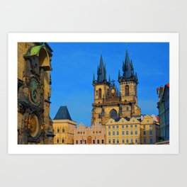 Prague Astronomical Clock Art Print