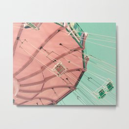 Rose Quartz Swing Chairs Metal Print