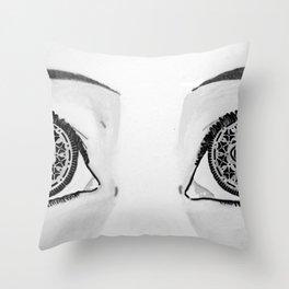 Oreo Eyes Throw Pillow