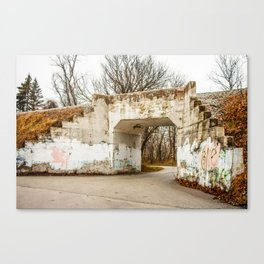 Train Underpass Canvas Print