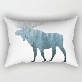 Misty Forest Moose Rectangular Pillow