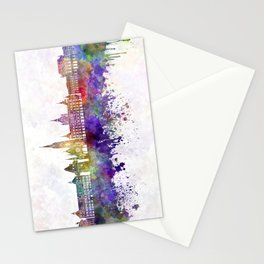 Graz skyline in watercolor background Stationery Cards