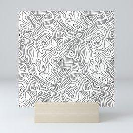 minimal abstract wood Mini Art Print