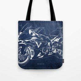 22-2013 HP4 BLUE, Blueprint motorcycle Tote Bag
