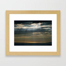 Cracks In The Clouds Framed Art Print