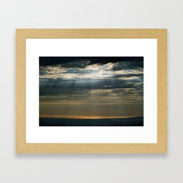 Cracks In The Clouds Framed Art Print