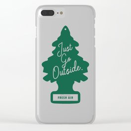 Just Go Outside Clear iPhone Case
