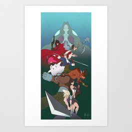 The Seventh Fantasty Art Print