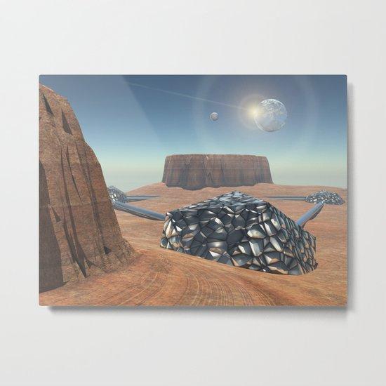 Mars Babylon Colony, view of Armageddon  Metal Print