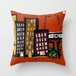 City Rhythms Throw Pillow