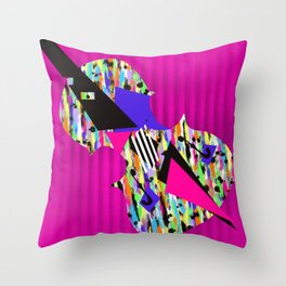 Cello Abstraction on Hot Pink Throw Pillow
