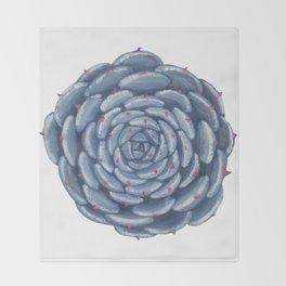 Echeveria 'Eye of typhoon' Throw Blanket