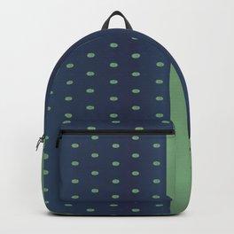 Sage Green and Slate Blue Polka Dots Backpack