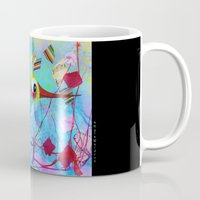 hemingway Mugs featuring Hemingway - Quirky Bird Series by Hyla Zest