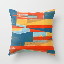 Fish Duel Throw Pillow