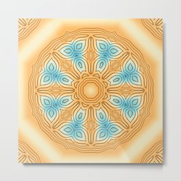 Sea Beach Summer Kaleidoscope Abstract Pattern Metal Print