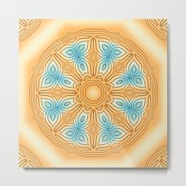 Sea Beach Summer Kaleidoscope Abstract Pattern Metal Print
