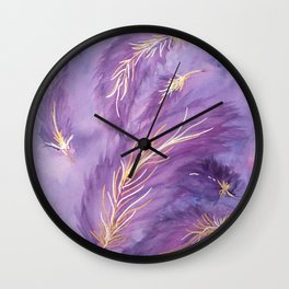Lilac Skies Wall Clock