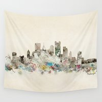 pittsburgh Wall Tapestries featuring pittsburgh pennsylvania  by bri.buckley