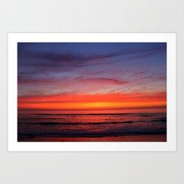 Scripps Pier - Sunset Art Print