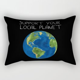 Support Your Local Planet Rectangular Pillow