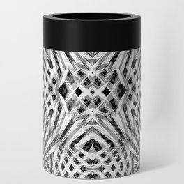 White Geometric Weave Can Cooler