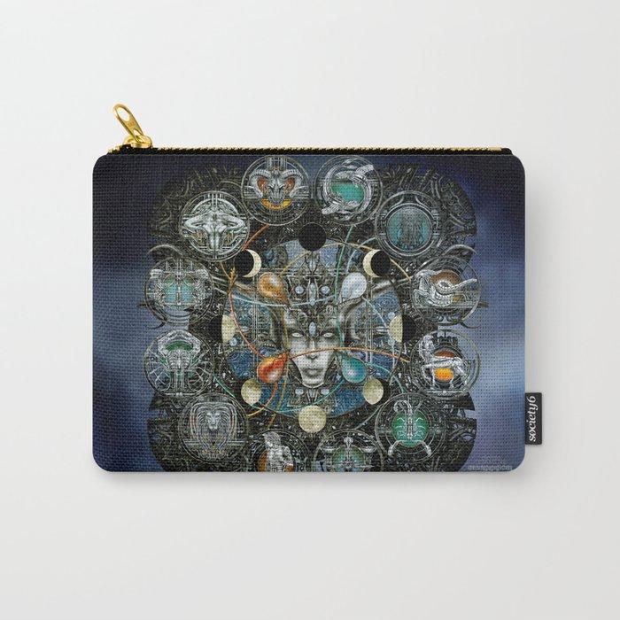 """Astrological Mechanism - Zodiac"" Carry-All Pouch"