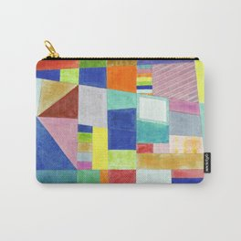 Colorful Abstract with Slantings and Windows Carry-All Pouch