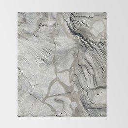 Bay of Fundy Rock No.1 | Texture | Nadia Bonello | Canada Throw Blanket