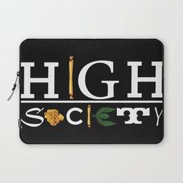 High Society Black Laptop Sleeve