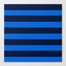Blue Horizontal Stripes Graphic Canvas Print