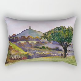 Glastonbury Tor - Somerset, England Rectangular Pillow