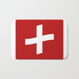 Swiss flag Bath Mat