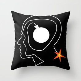 Mind Bomb Throw Pillow
