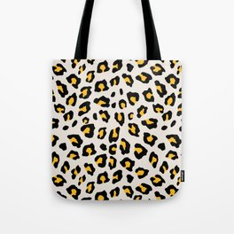 Leopard Print - Mustard Yellow Tote Bag