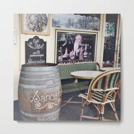 Parisian Cafe - Outdoor Terrace Metal Print