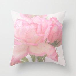 Gentleness - Soft Pink Rose #1 #decor #art #society6 Throw Pillow