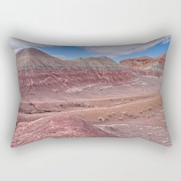Hills of Bentonite Clay called Teepees at Petrified Forest Rectangular Pillow