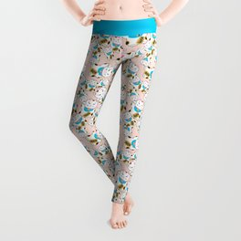 Maneki-neko good luck cat pattern Leggings