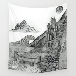 Castle the C Wall Tapestry