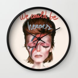 D.BOWIE Wall Clock