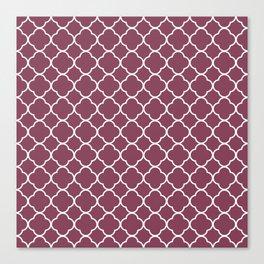 Purple, Mulberry: Quatrefoil Clover Pattern Canvas Print