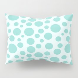 Polka Dot Plot: Teal Pillow Sham