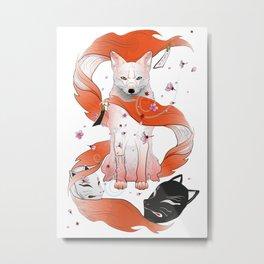Red Kitsune Metal Print
